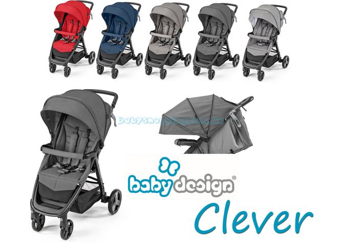 Прогулочная коляска Baby Design Clever 2019 ����, �������� | Babyshopping