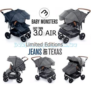 Коляска для двойни Baby Monsters Easy Twin 3S Air Limited Editions фото, картинки | Babyshopping