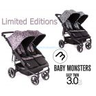 Прогулочная коляска для двойни Baby Monsters Easy Twin 3S Limited Editions ����, �������� | Babyshopping