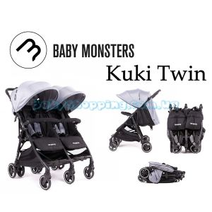 Прогулочная коляска для двойни Baby Monsters Kuki Twin 2019 фото, картинки | Babyshopping