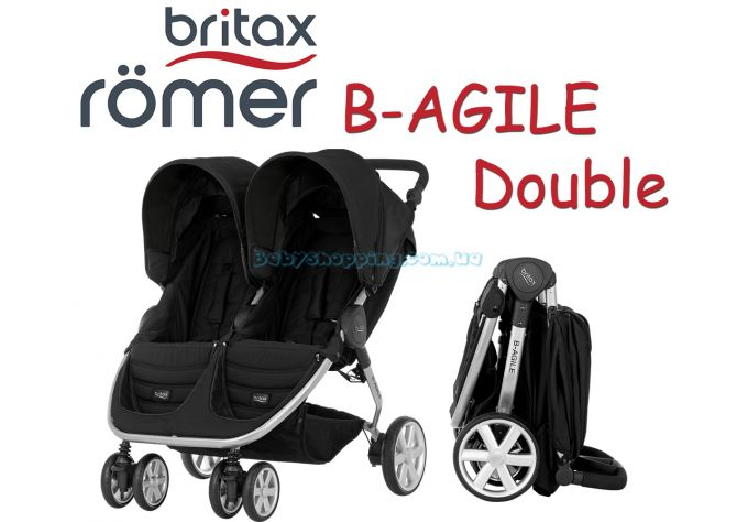 Прогулочная коляска для двойни Britax B-Agile Double ����, �������� | Babyshopping