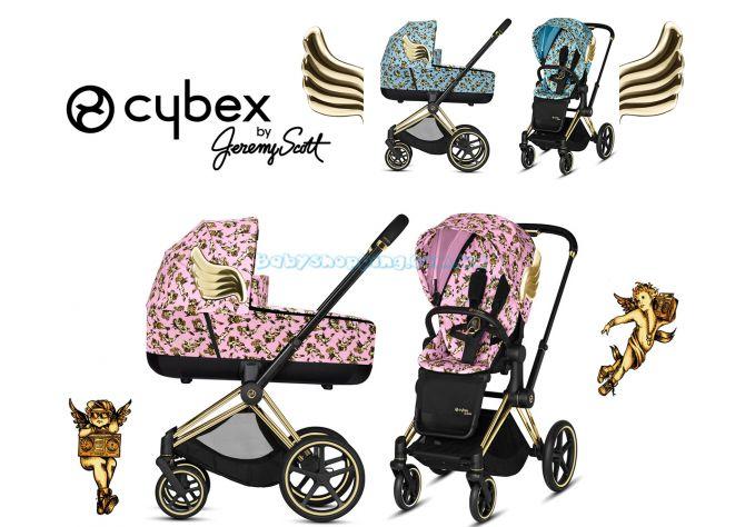 Детская коляска 2 в 1 Cybex Priam Cherubs by Jeremy Scott 2019 фото, картинки | Babyshopping