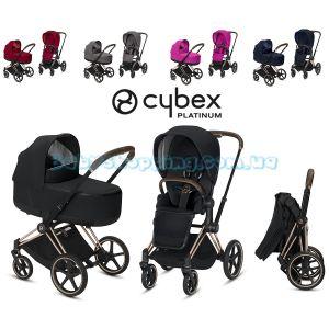 Универсальная коляска 2 в 1 Cybex Priam Lux 2019 шасси Rose Gold фото, картинки | Babyshopping