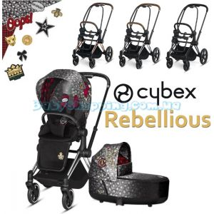 Детская коляска 2 в 1 Cybex Priam Rebellious 2019 фото, картинки | Babyshopping