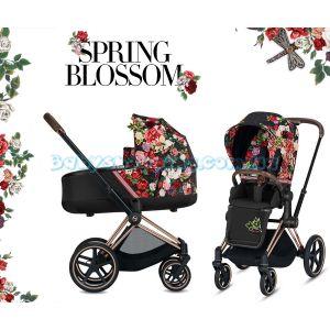 Детская коляска 2 в 1 Cybex Priam Lux Spring Blossom  фото, картинки | Babyshopping