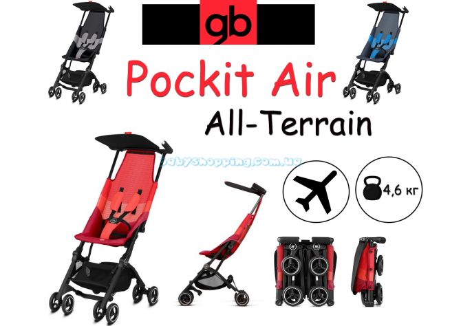 Прогулочная коляска GB Pockit Air All-Terrain 2019  ����, �������� | Babyshopping