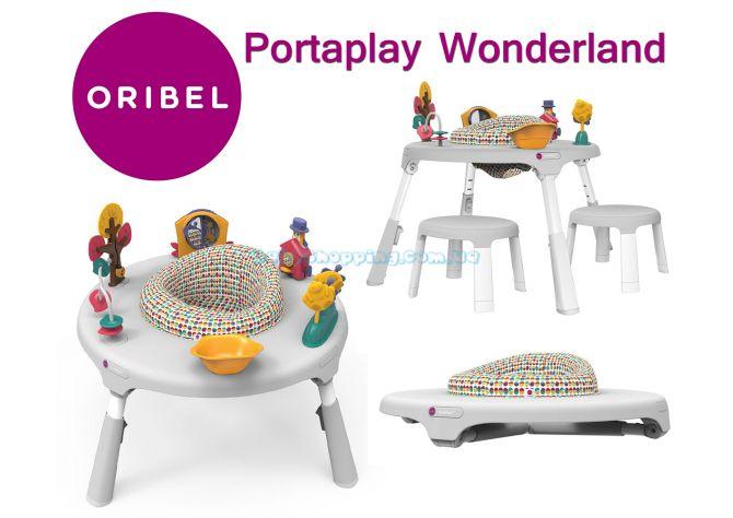 Игровой столик Oribel Portaplay Wonderland + 2 стульчика  ����, �������� | Babyshopping