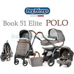 Универсальная коляска 3 в 1 Peg-Perego Book 51 Elite Polo Modular фото, картинки | Babyshopping