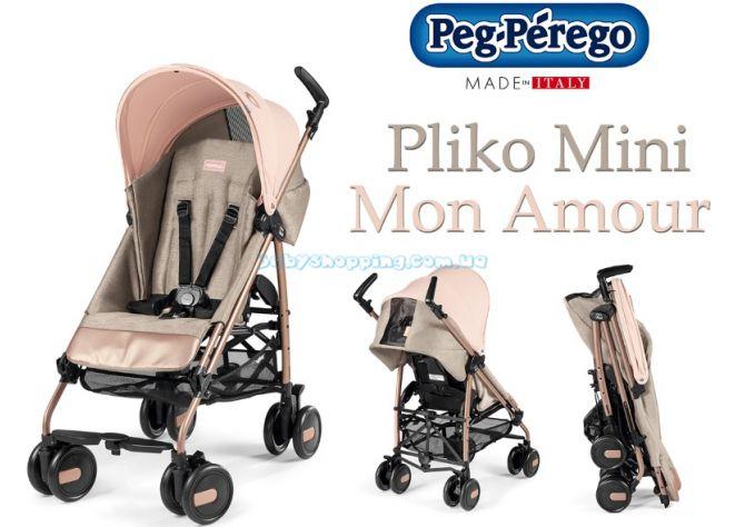 Прогулочная коляска-трость Peg-Perego Pliko Mini Mon Amour  ����, �������� | Babyshopping