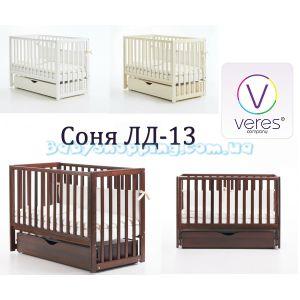 Детская кроватка Veres Соня ЛД-13 ( маятник и ящик) фото, картинки | Babyshopping