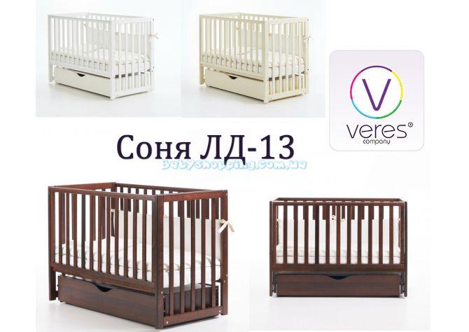 Детская кроватка Veres Соня ЛД-13 (маятник и ящик) ����, �������� | Babyshopping