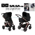 Детская коляска 2 в 1 ABC Design Salsa 4 Air Rose Gold Diamond Special Edition ����, �������� | Babyshopping