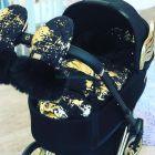 Муфта варежки Bjällra of Sweden Black Golden ����, �������� | Babyshopping