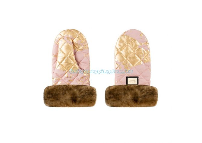 Муфта варежки Bjällra of Sweden Pink Golden ����, �������� | Babyshopping