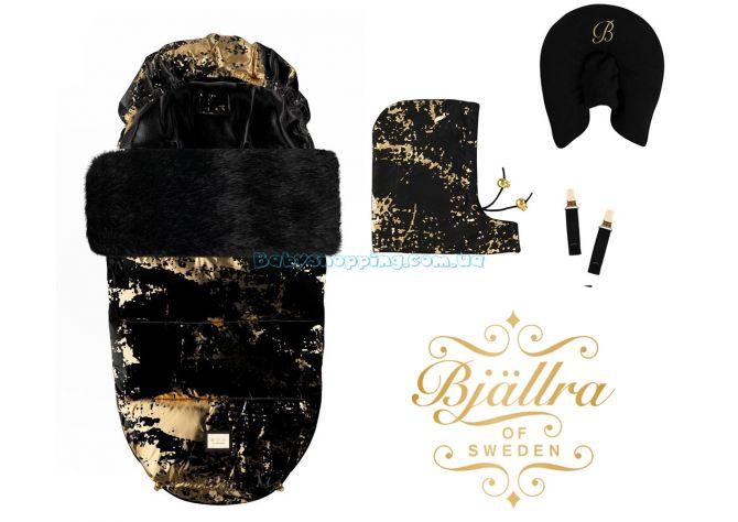 Теплый конверт Bjällra of Sweden Black Golden ����, �������� | Babyshopping
