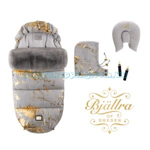 Tеплый конверт Bjällra of Sweden Grey Golden фото, картинки | Babyshopping