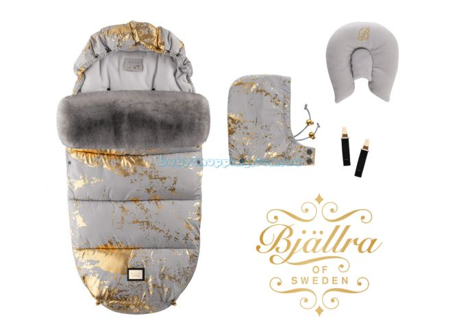 Теплый конверт Bjällra of Sweden Grey Golden ����, �������� | Babyshopping