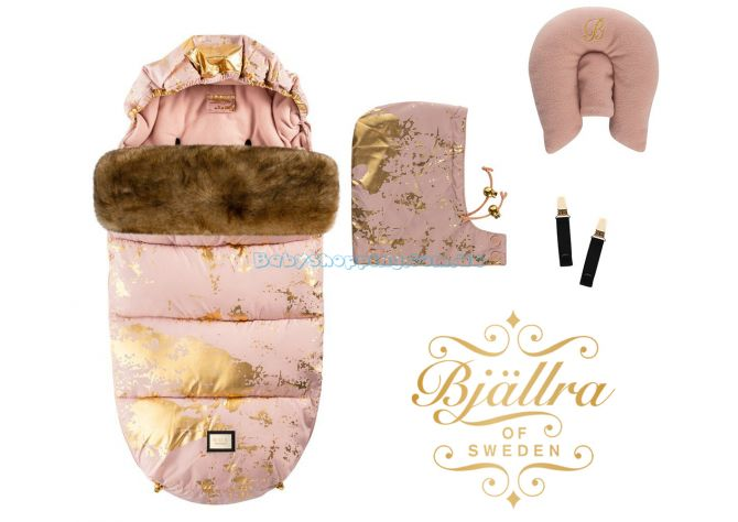 Теплый конверт Bjällra of Sweden Pink Golden ����, �������� | Babyshopping