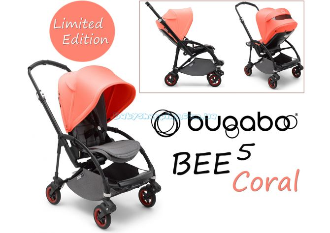 Прогулочная коляска Bugaboo Bee 5 Coral Limited Edition ����, �������� | Babyshopping