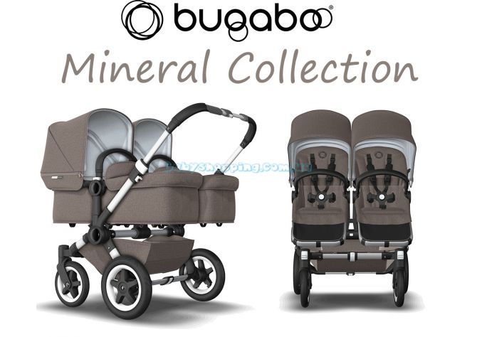 Коляска для двойни 2 в 1 Bugaboo Donkey 2 Twin Mineral Collection  ����, �������� | Babyshopping