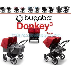 Коляска для двойни 2 в 1 Bugaboo Donkey 3 Twin фото, картинки | Babyshopping