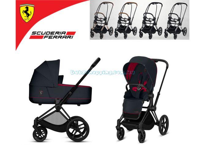 Универсальная коляска 2 в 1 Cybex Priam Lux for Scuderia Ferrari  ����, ��������   Babyshopping