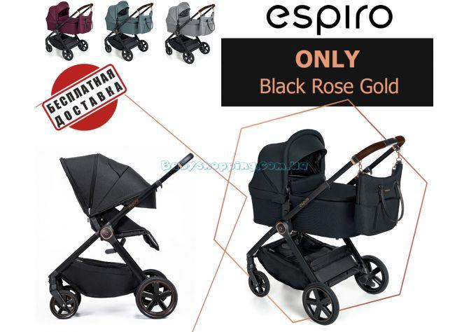 Универсальная коляска 2 в 1 Espiro Only Black Rose Gold  ����, �������� | Babyshopping