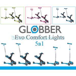 Самокат біговел Globber Evo Comfort Lights 5 в 1  фото, картинки   Babyshopping
