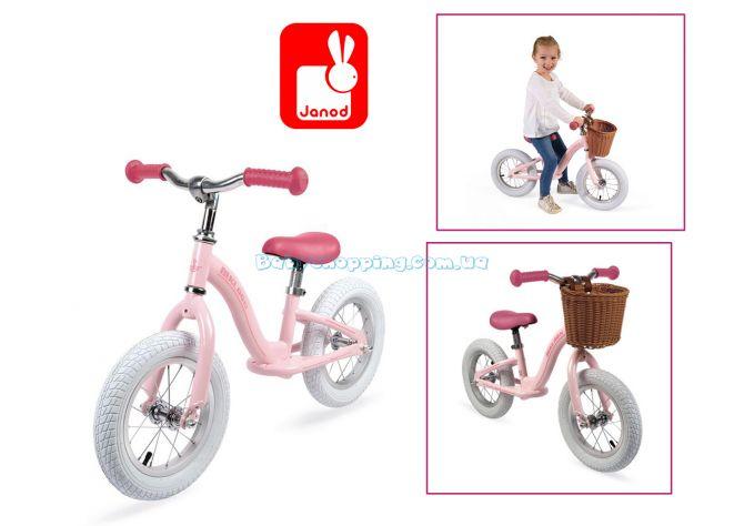 Детский винтажный беговел Janod Pink ( J03295) ����, �������� | Babyshopping