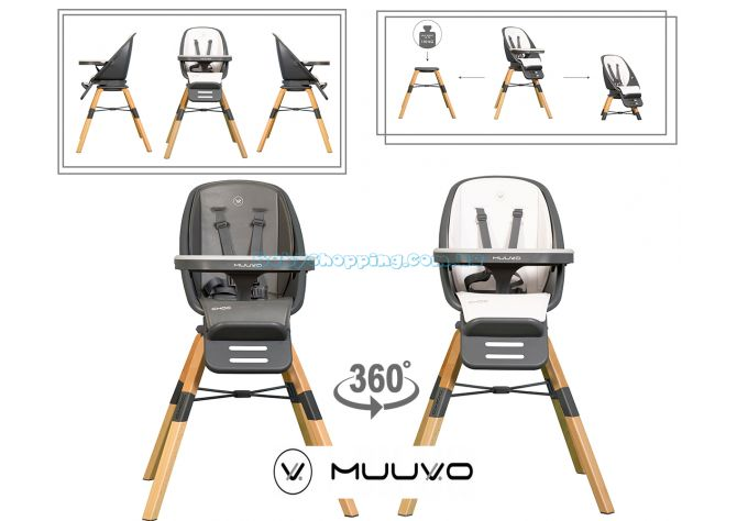 Стульчик для кормления Muuvo Choc  ����, �������� | Babyshopping