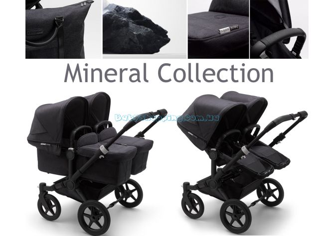 Коляска для двойни 2 в 1 Bugaboo Donkey 3 Twin Mineral Collection  ����, �������� | Babyshopping