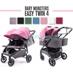 Коляска для двійні 2 в 1 Baby Monsters Easy Twin 4 фото, картинки | Babyshopping