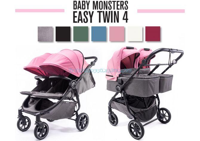 Коляска для двойни 2 в 1 Baby Monsters Easy Twin 4  ����, �������� | Babyshopping