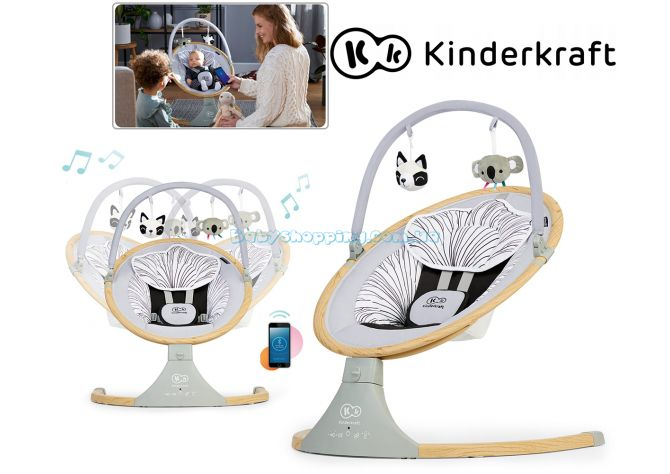 Кресло-качалка Kinderkraft Lumi Wooden  ����, �������� | Babyshopping