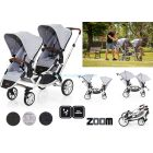 Прогулочная коляска для двойни ABC Design Zoom, 2018  ����, �������� | Babyshopping