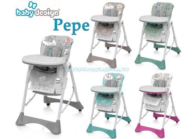 Стульчик для кормления Baby Design Pepe ����, �������� | Babyshopping