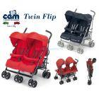 Коляска-трость для двойни Cam Twin Flip  ����, �������� | Babyshopping