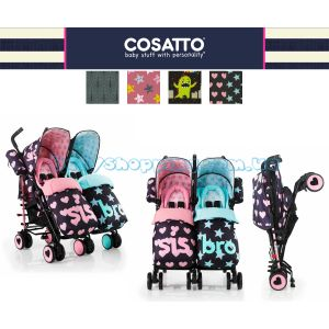 Прогулочная коляска-трость для двойни Cosatto Supa Dupa Twin, 2018 фото, картинки | Babyshopping