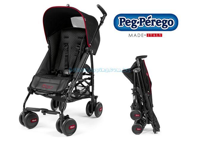 Прогулочная коляска-трость Peg-Perego Pliko Classico Mini Fiat 500 ����, �������� | Babyshopping