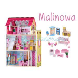 "Кукольный домик ""Malinowa"" с лифтом EcoToys 4120 фото, картинки | Babyshopping"