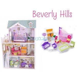 "Кукольный домик ""Beverly Hills"" EcoToys ZA-4108 фото, картинки | Babyshopping"