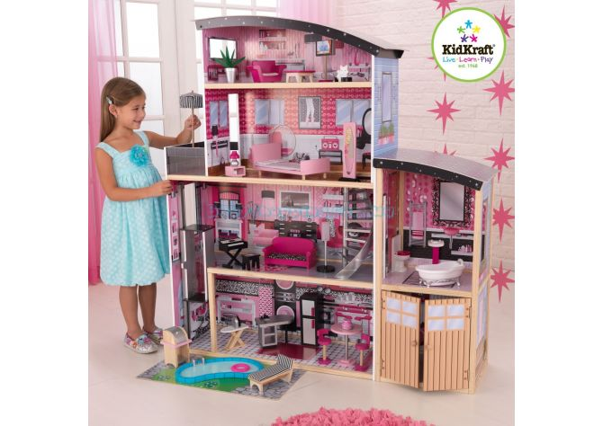 "Кукольный домик ""Sparkle Mansion"" KidKraft 65826 ����, �������� | Babyshopping"