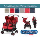 Прогулочная коляска для двойни Peg-Perego Aria Shopper Twin Classico ����, ��������   Babyshopping