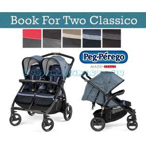Прогулочная коляска для двойни Peg-Perego Book For Two Classico, 2018  фото, картинки | Babyshopping